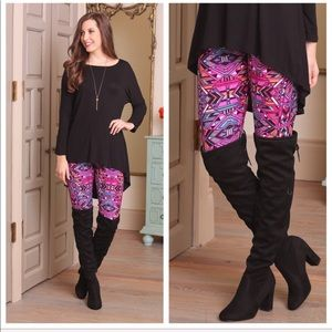 Infinity Raine Multi Print Brushed Knit leggings